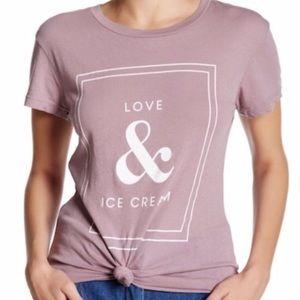 Wildfox Love & Ice Cream graphic Purple T-shirt